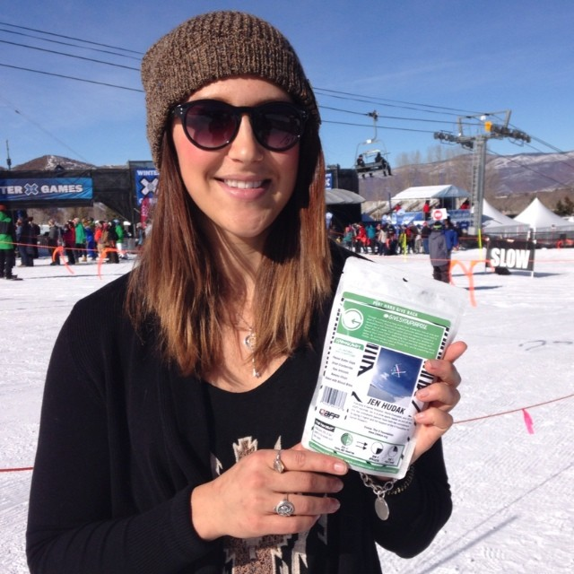 #phgb athlete Jen Hudak here at @xgames with her new trail mix!! The V Foundation gives her purpose as her GiveBack cause!! What gives you purpose ?? #givesyoupurpose