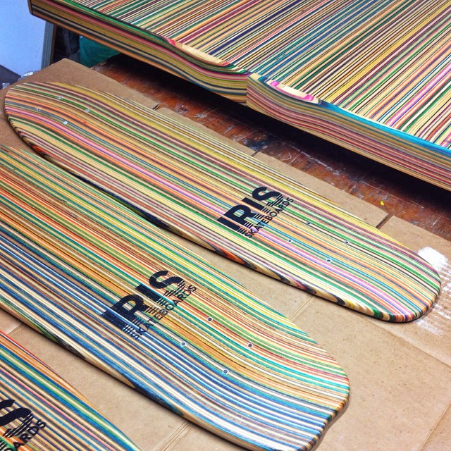 Skateboards and countertops. #recycledskateboards #irisskateboards