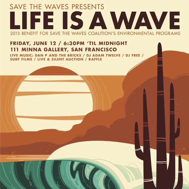 Dear Bay Area sunskiers: Join us this Friday in San Francisco for Life is a Wave - a benefit supporting our 1% for the planet partner, Save the Waves. Will be a great night! tickets via @stwcoalition profile page! @1percentftp