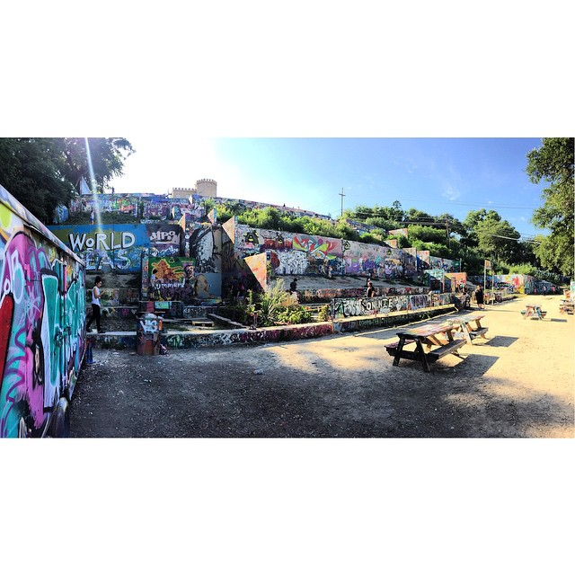 Being a Tourist in Austin today #graffitti
