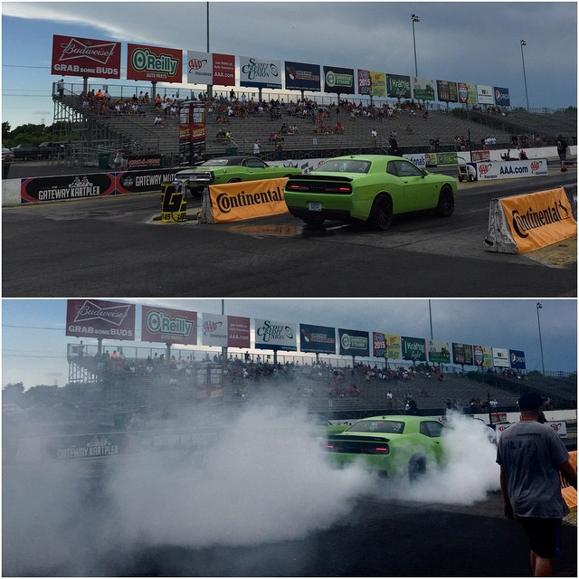 Our favorite part of #powertour2015 so far? The burnouts. #newvsold #hellcat