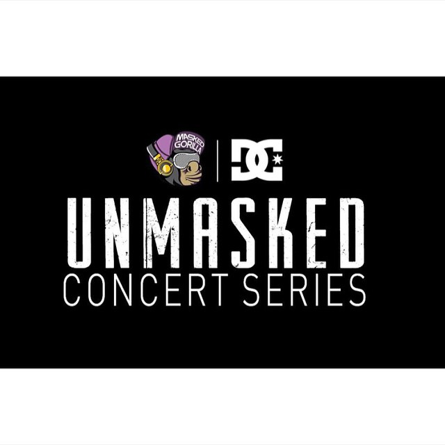 We're proud to announce that we've teamed up with @MaskedGorilla to present the Unmasked Concert Series this Summer. The first concert is June 21st at the Roxy in Los Angeles, CA with @ThatBoyCurtis and @FatMankey. #dcshoes