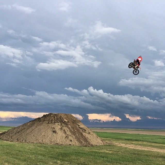 #Repost @Wes_Agee and the #SouthDakota sky's ☁️ Where did you ride this wknd? #MetalMulisha #LoneWolf #WorldDomination
