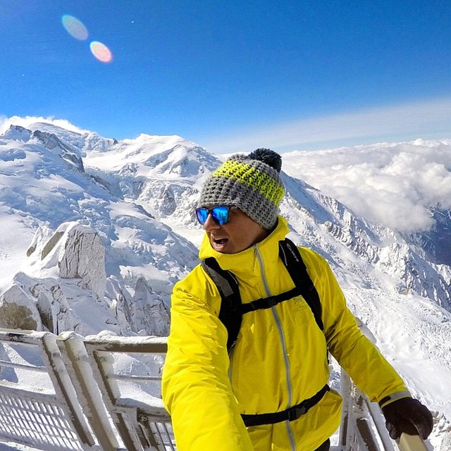 Marshall rocks the Surf Solo while hiking to the top of Mont Blanc - the highest peak in Europe! Marshall is ready for the Adventure Hunt, are you? Tap link in bio to register today! Kameleonz.com