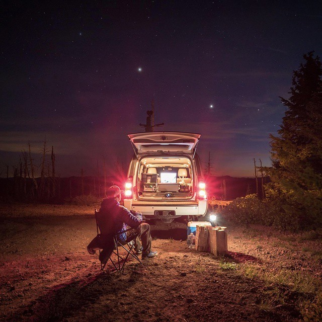 @andy_best's drive in movie theatre.  Simply use a Rockout Speaker, a Yeti and your laptop and you've got your own private theatre beneath the stars. #GetOutStayOut