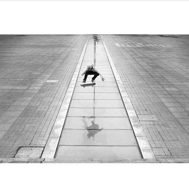 @mattmillerskate popping kickflips in China. Photo: @blabacphoto #MattMiller #DCShoes