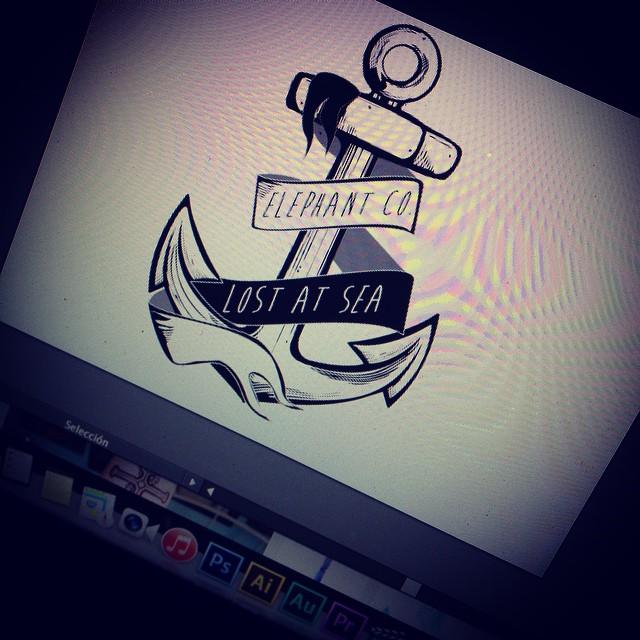 Les va la onda #pirata ? #pirate #ai #psd #diseños #workinprogress #anchor #ancla #elefante #elephant #jointheherd @elephantindumentaria