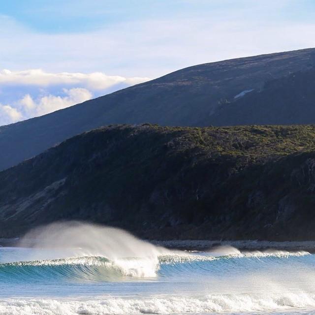 Una de las olas que encontramos en la costa Sur de Peninsula Mitre