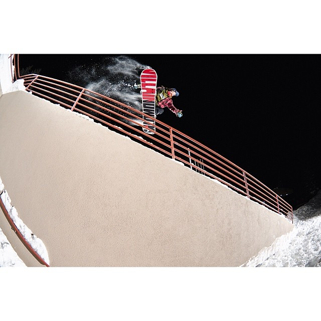 "Be sure to watch @desireemelancon's full part from @think_thank's ""Brain Dead and Having a Heart Attack"" film, up this week at @snowboardermag 