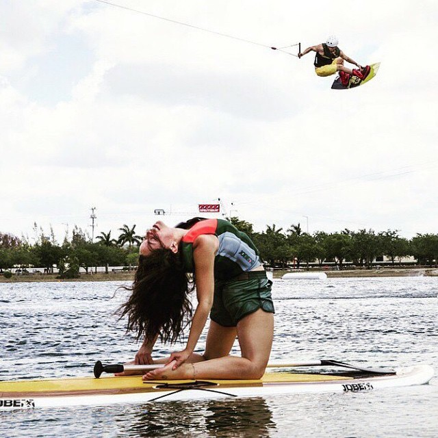 YogaSUP and wakeboarding, perfect combination! #wakeboarding #jobe #yoga #SUP