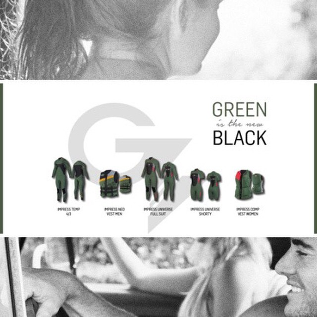 Impress your friends with the new trend of 2015: Green is the new black! #jobe #green