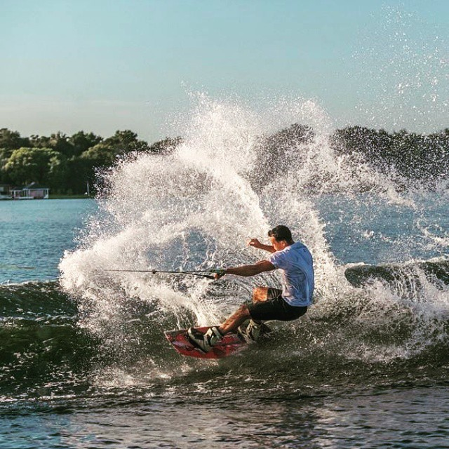 Austin Hair: 'That feeling you get when you get a good slash' #Jobe #Jobewatersports #wakeboarding