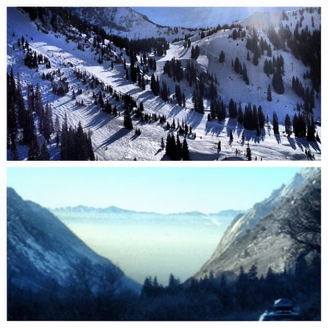 @altaskiarea views were a little nicer than the one driving down the canyon back the #saltpalace for the #2014 @outdoorretailer