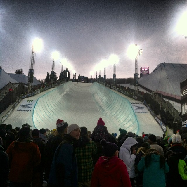 Gearing up for the girls here at @xgames !!