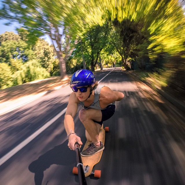 Photo of the Day! @waynevn takes a speed run down Riverside Road in Cape Town, South Africa. Submit your best photos by clicking the link in our profile. #GoPro #Longboard #GoProSkate #capetown