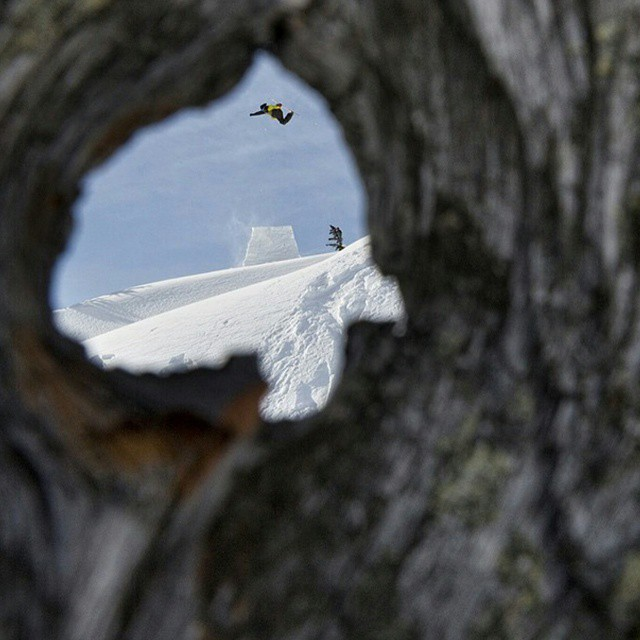 Legend has it if you look through wood long enough you can see your soul.  If that's the truth our soul back country booters & @eeroniemela destroying off them!