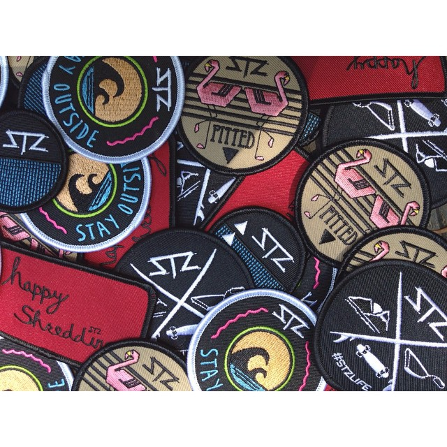 Pick your patch | Crewnecks and Bucket hats you can choose the patch you want put on! | head to www.MYSTZ.com to see the options. | #stzlife #pitted #stayoutside #happyshredding #flamingo #patch #buckethat #5panel #crewneck #wakeboard #skateboard #surf...