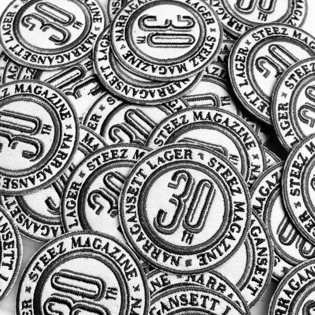 Heads up. Big things for the 30th! @gansettbeer #steezmagazine #30thissue #collaboration #patches