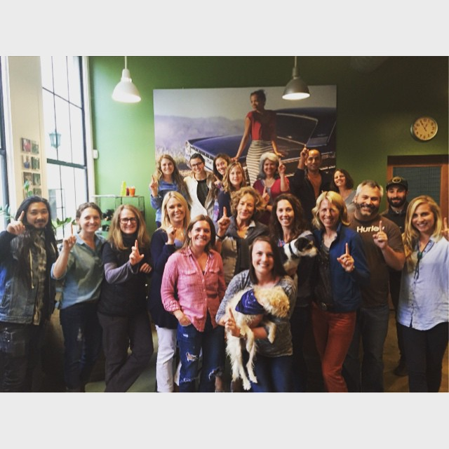 Check it out! Kate Williams is hopping around the country (and the globe) on a CEO Tour! Thanks for hosting us, @toadandcoclothing. #SantaBarbara #CA