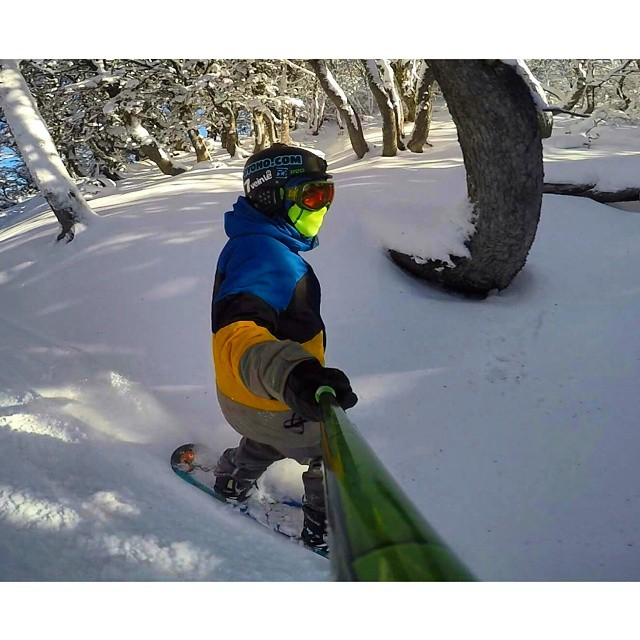 @quequeparodivla disfrutando de las primeras nevadas en #MonteBianco con su #ZephyrPole !!