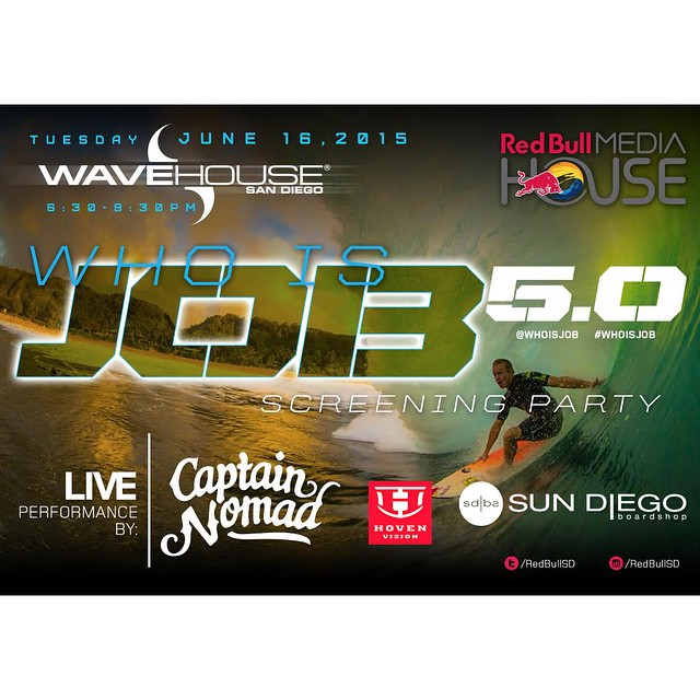Hoven partners with @redbullsd to bring you the hilarity and debauchery that is #whoisjob. HUGE GIVEAWAY opportunity stay tuned tomorrow for details. #surf #sandiego