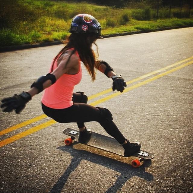Bon dia!  Repost from @longboard_brazil. LGC Brasil rider @natialves87 shot by @ricardo.bala Go girl!  #longboardgirlscrew #womensupportingwomen #girlswhoshred #skatelikeagirl #natialves