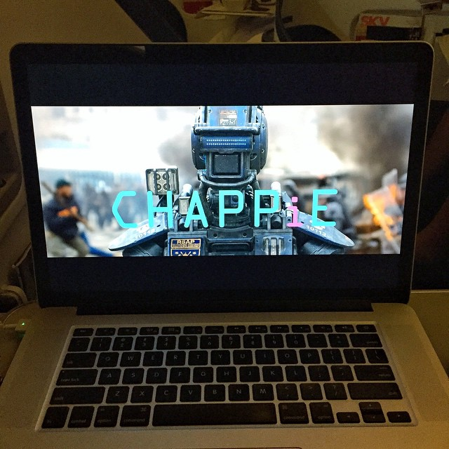 It seems only fitting to watch the movie Chappie for the first time on my flight to South Africa (the movie's setting is Johannesburg). @NeillBlomkamp is one of my favorite directors - his work includes District 9, which was an incredible film. And...