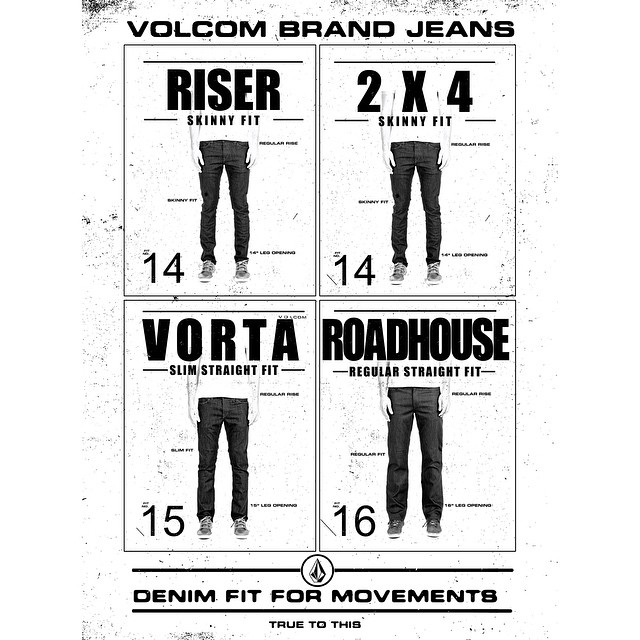 Volcom Brand Jeans #perfectFit #RealLifeHappening Desconectar para Reconectar #TrueToThis