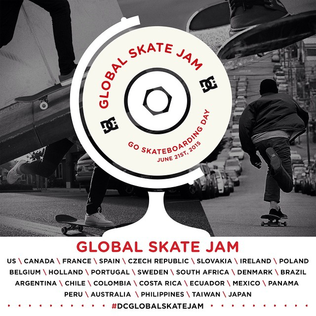 We're celebrating #GoSkateboardingDay, June 21st, with over 30 events happening all over the globe! Go to dcshoes.com/GSD to find an event in your area, and join the world's biggest skate jam! #DCGlobalSkateJam #DCShoes