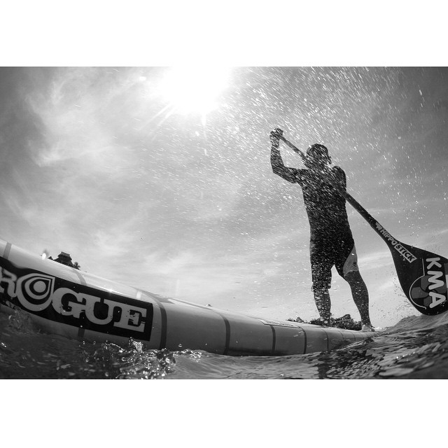 Irish team ambassador @keith_mc_guirk testing out his brand new #roguesup race board.