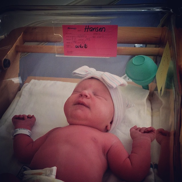 #ProudUncle alert: Welcome to the world baby Ashlyn Kennedy Hansen!!! Born June 9th, 2015 @ 8:10am ~ 7lbs-7oz, 19-1/2 inches.  CONGRATS Family Hansen: #ErikHansen, #AngelaHansen, #AbbyHansen & @kirthansen!!!