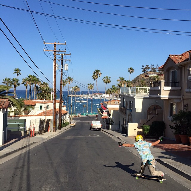 @mrdinosaur16 with some backside action at #CatalinaIsland #keepitholesom