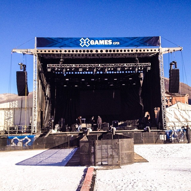 Welcome to day three of #xgames Aspen! Huge day on tap including @mattandkim and @wearephoenix taking over this stage! Check out XGames.com for the full schedule.