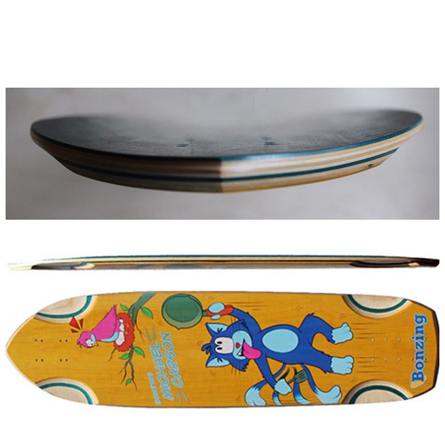 Concave photographs of the MC Cat board are now available at BonzingSkateboards.com!  #bonzing #mccatboard