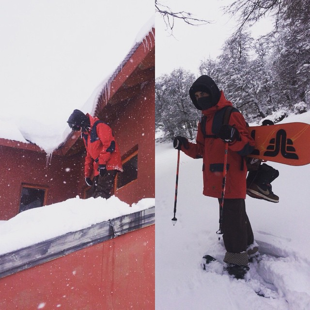 Snowing in Argentina ?  @brunonatalucci enjoying of his new #renegade 154! @thrivesnowboards