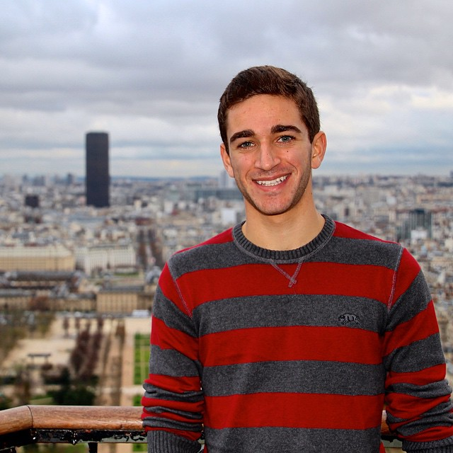 Cheesin' on the Eiffel Tower