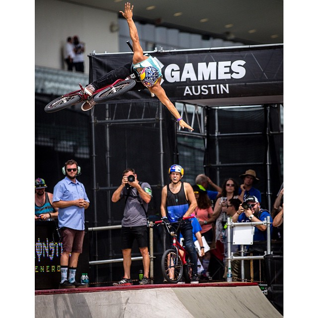#TBT – Last Friday, @daniel_sandovalbmx earned his first ❌ Games gold in our @toyotausa BMX Park competition. #TeamToyota (