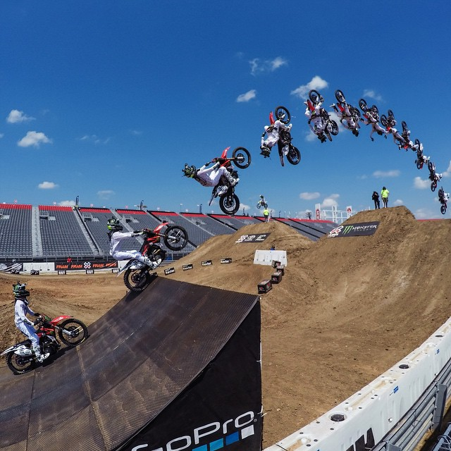 Throwin' it back to last weekend when GoPro athlete @NateAdams741 took Gold at @xgames Speed and Style! Congrats on the win, Nate!  In honor of his Gold Medal were giving away a 3-Way and Smart Remote to 3 lucky fans. To enter, tag 3 friends in the...