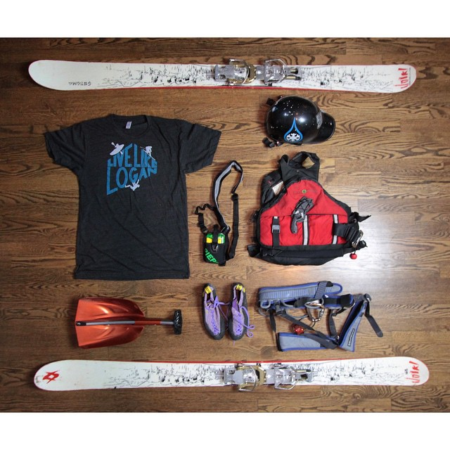 Skiing gear... check. Climbing gear... check. Boating gear... check. Live Like Logan shirt... check.  Live Like Logan tees now available... proceeds are going to help Logan's mother with memorial expenses as well as help fund a tribute video for Logan...
