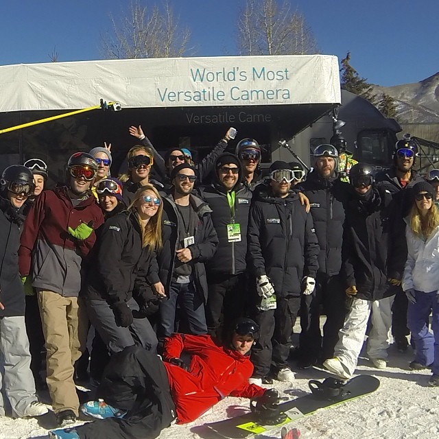 Shredding #buttermilk with #xgames #gopro ride posse @gretegirl @ozskier @gopro @b4bc @itsblairyoung @mcelberts  #lategram #happyshredding