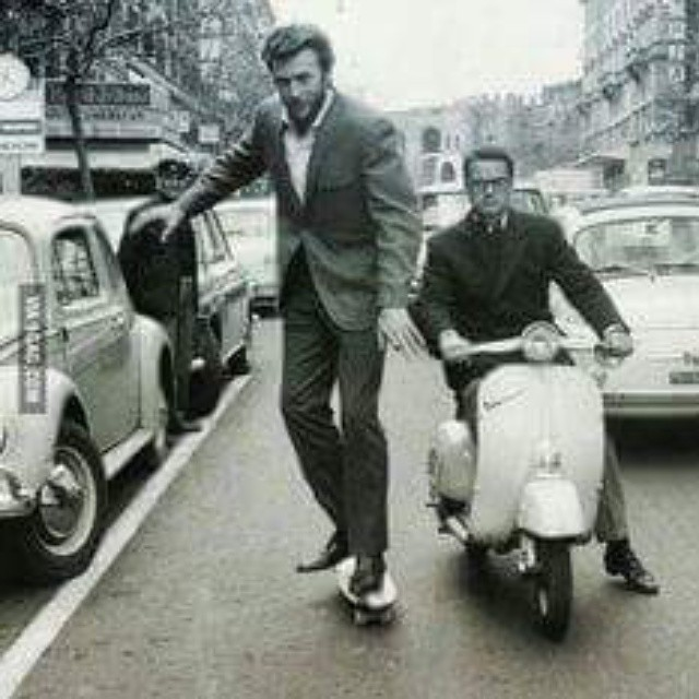 #tbt #tbtskateboarding  #clinteastwood riding in Rome circa 1964  #revbalance #findyourbalance #balanceboards #madeinusa #boarding #skateboarding #rideordie #ride