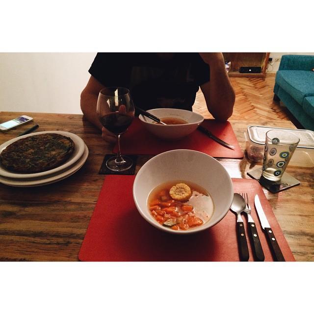 LA cena que me preparo mi primi