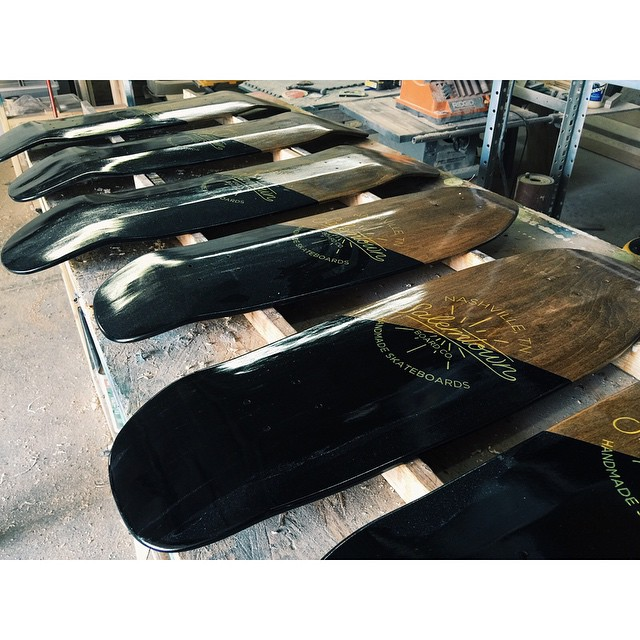 A special batch of boards for some friends on west coast. #handmadeskateboard