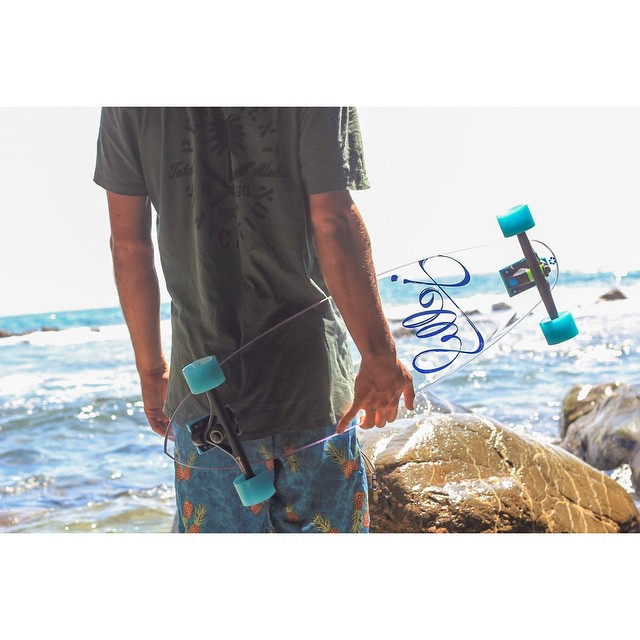 your coastal access this summer #jellyskateboards #jellymanowar #longboard #jellyrolls #blockrisers #lagunabeach