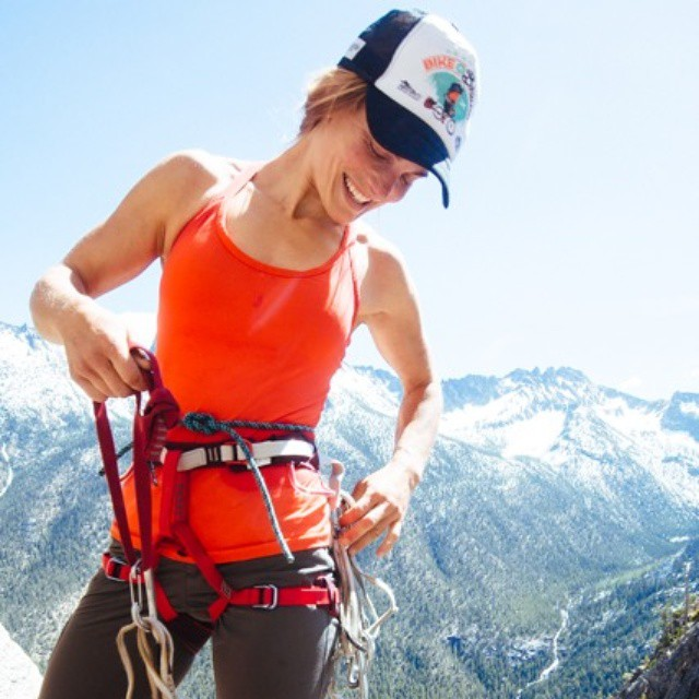 "Meet Jumper Jenny Abegg. This girl says ""take away the excuses, and there's nothing left but trying hard and going big."" Chew on that. Click on bio link to read her story. #IamSJ #climbing"