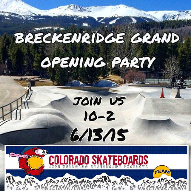 Hey folks! Breckenridge is throwing a BBQ grand opening party tomorrow! Stop by our tent & say Hi!