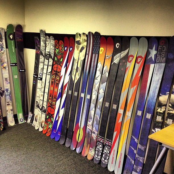 Summer sale skis are stacking up! #madeintheUSA #customskis #dowork