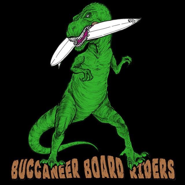 Have a Jurassick Day!  #bbr #bbrsurf #buccaneerboardriders #rampage #tshirt