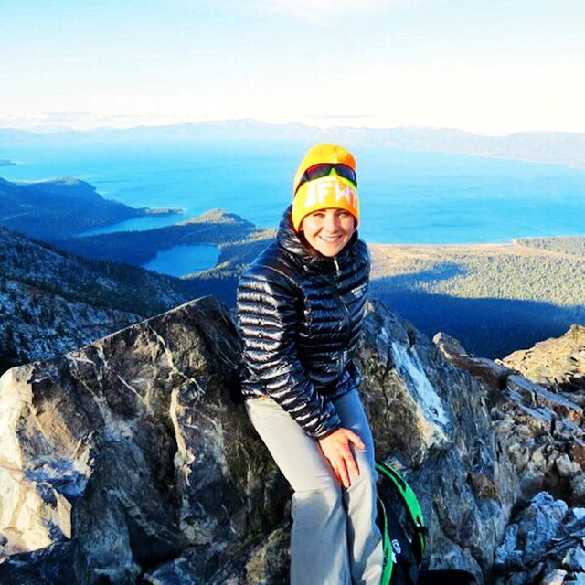 Best view of #laketahoe is from The top of #mttallac #lifeisgood #wildandfree @dakine @oakleywomen @kirkwoodmtn @neversummerindustries @avalon7 @stcrossfit @epicbar