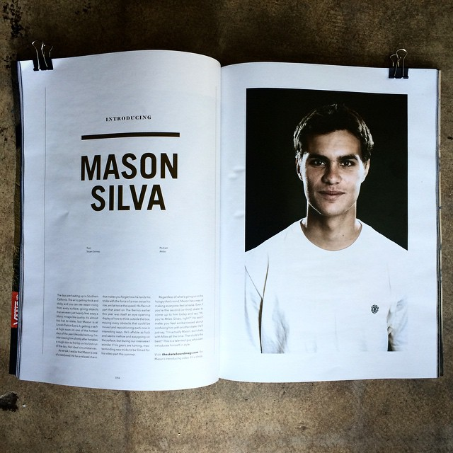 The future is bright. Good work @masonsilva, 10 pages in the latest @theskateboardmag. Head to your local shop and pick one up. #masonsilva